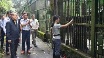 探望受傷台灣黑熊  蘇貞昌:提高電牧器圍網補助