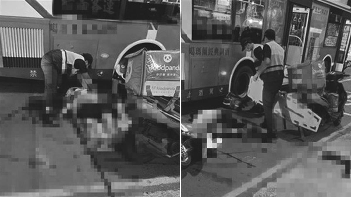 20歲外送員撞公車慘死!頭重創倒臥血泊 家屬忍痛放棄急救