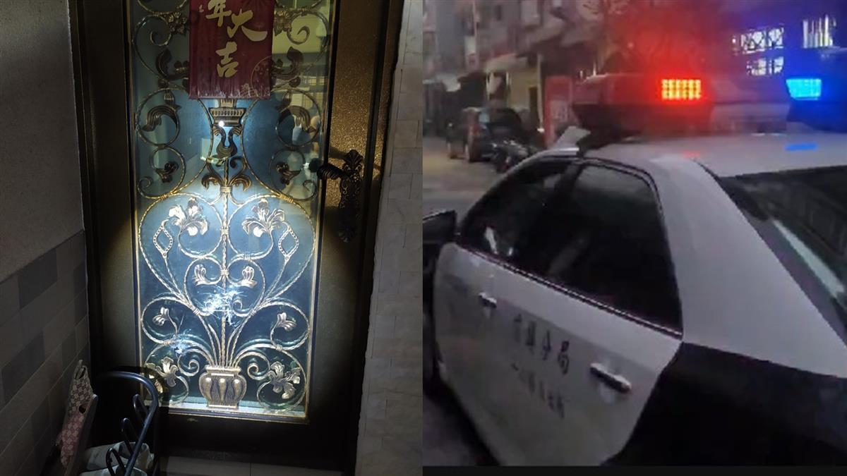 警局旁開槍!高雄民宅凌晨遭掃射 玻璃爆裂全碎