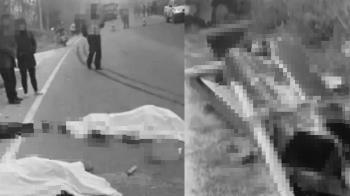 治喪送葬遇劫!貨車直衝人群釀9死4傷  棺材全毀墜邊溝
