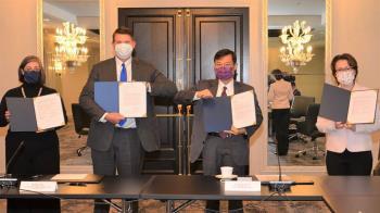 首屆台美經濟對話華府登場 簽署備忘錄深化經濟合作