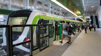 台中捷運試營運第6天 列車一度異常局部斷電維修
