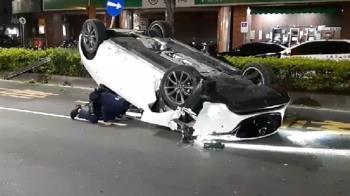 快訊/高雄凌晨自撞車禍!男酒駕辯稱:不是我開的