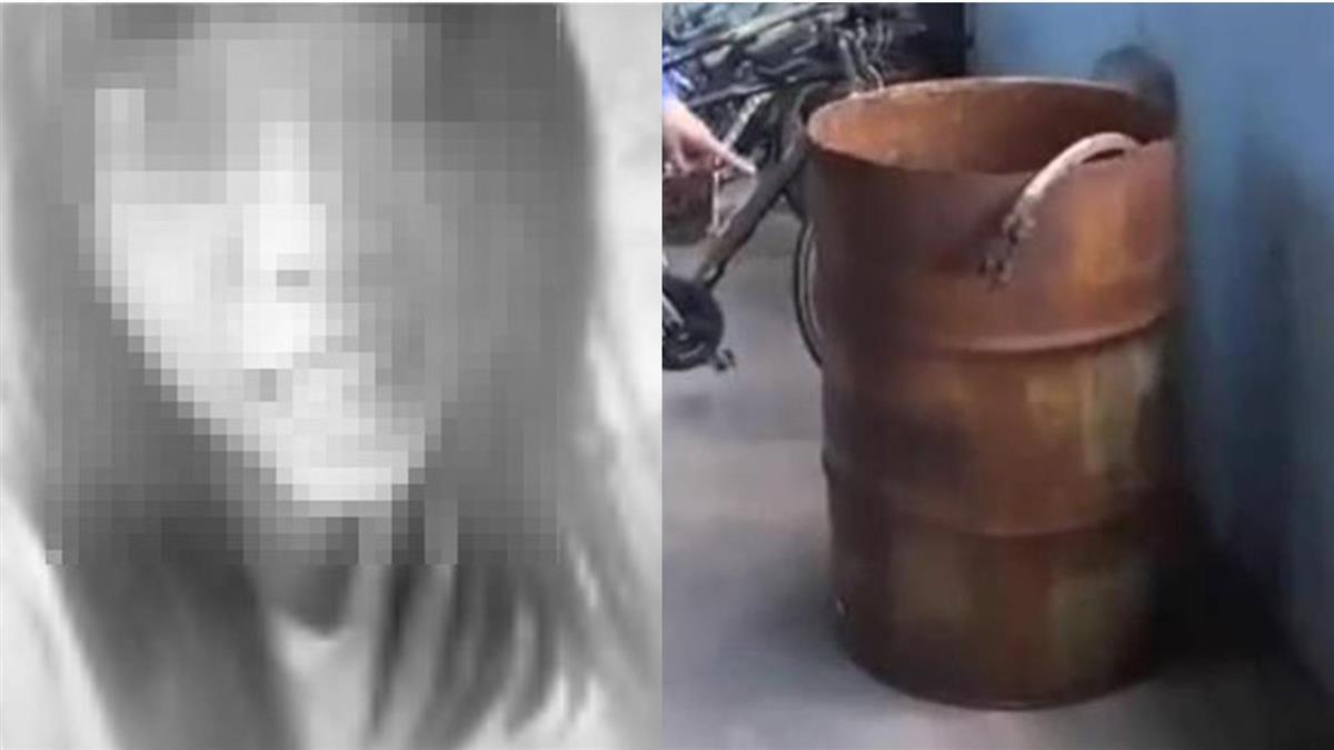 台中16歲少女胸遭插剪刀!割頸灌強酸溶屍 檢曝桶屍慘狀