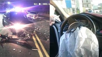 獨 / 進口車重要嗎?高雄男被逆向車撞片瘋傳:車毀人好