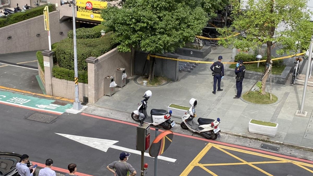 北市南京復興站旁1女墜樓亡 警封鎖現場調查