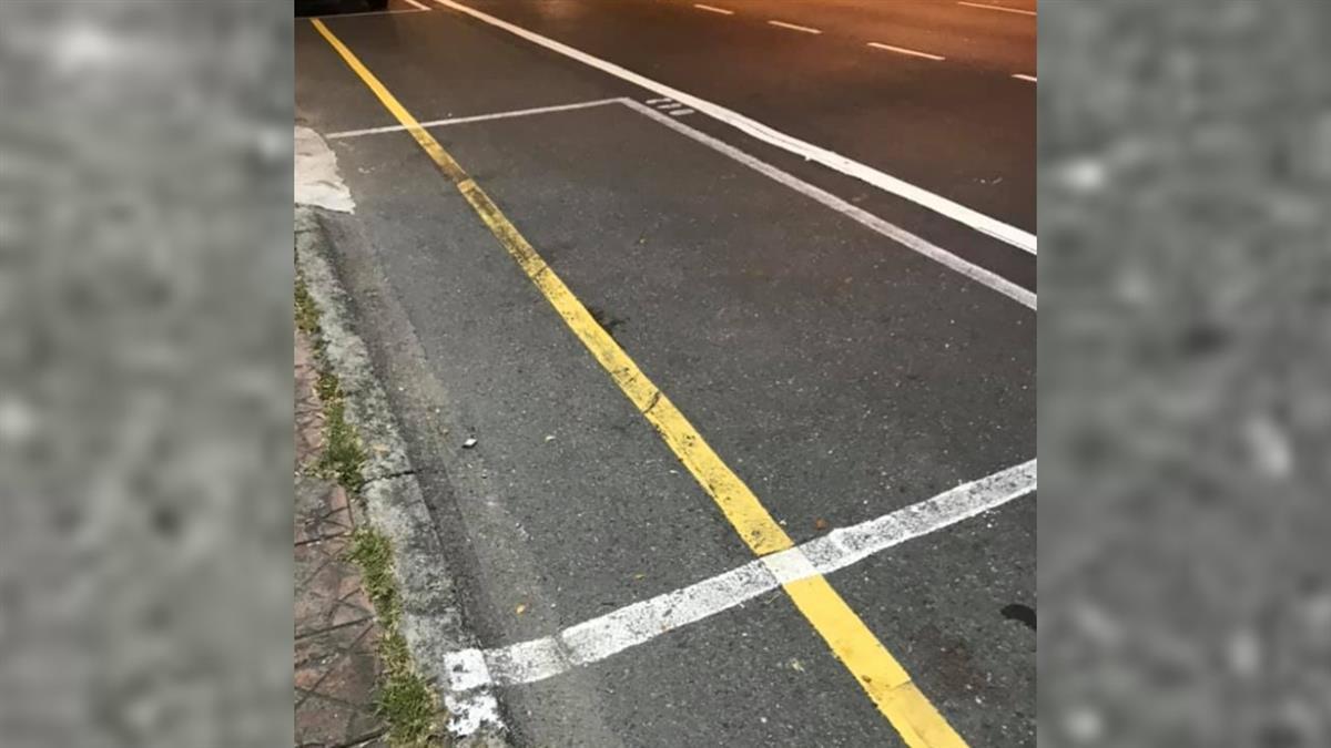 路邊停車格內有黃線!他糾結崩潰「能停嗎」 交通局解答
