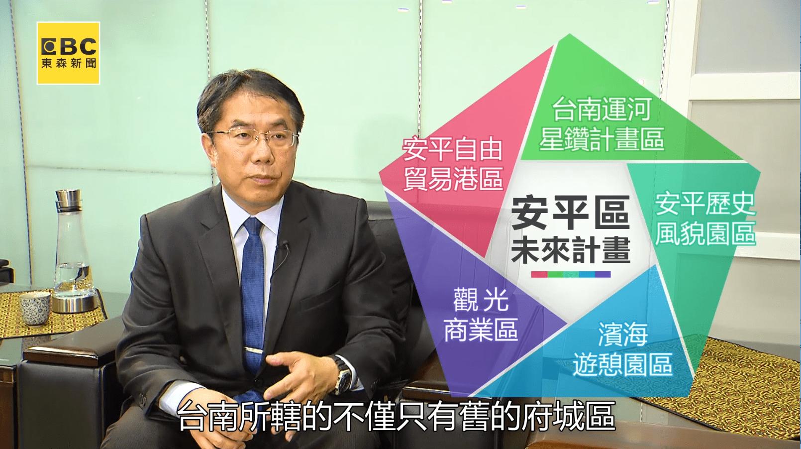 台南市長黃偉哲認為安平區發展為來前景可期。