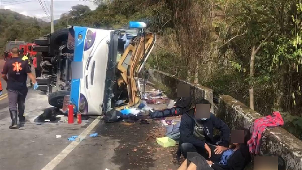 奧萬大中巴意外1死20輕重傷!司機還原翻車原因