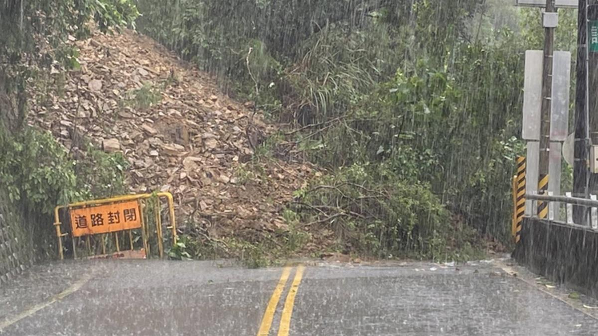 舊蘇花公路蘇澳段土石坍塌 暫時封閉