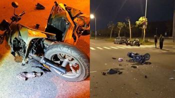 驚悚畫面曝!台南男無照酒駕撞機車 21歲女護理師命危