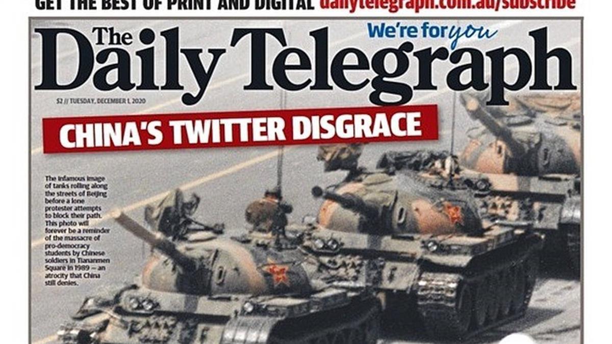 趙立堅假圖批澳洲軍人 澳媒刊六四坦克人照反擊