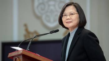 蔡總統:現在不是絕望時候  民主台灣會相挺港人