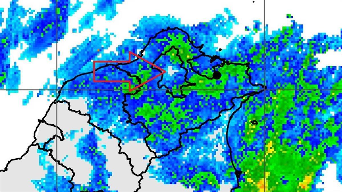 北北基大雨特報!台北市「空一個洞」 鄭明典解惑為何這區不下雨