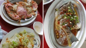 南寮吃海鮮被當盤子?「2小蟹+1魚2吃」噴2340元 在地人:只去放風箏