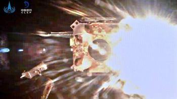 中國嫦娥五號離開月球表面
