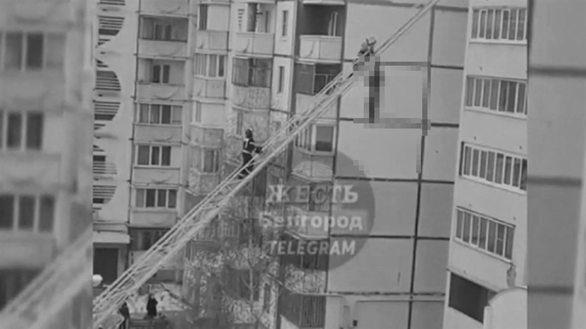 超驚悚!男從8樓跳上雲梯車 下秒手滑慘墜地亡