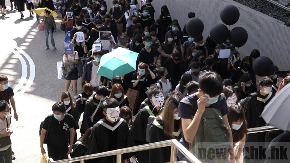 香港中大校園內遊行8人被捕 3學生涉違國安法