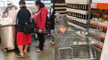好市多會員新用法?眼鏡男狂試吃 1車藏10盤蛋糕傻眼