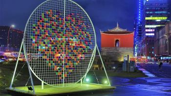 超人氣塗鴉藝術家DEBE來了 帶領民眾一起「畫」進台北跨年