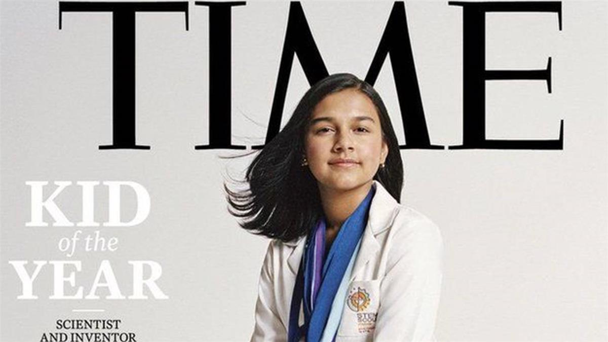 美国印度裔少女凭什么获《时代》周刊首届「风云儿童」称号(photo:EBCTW)
