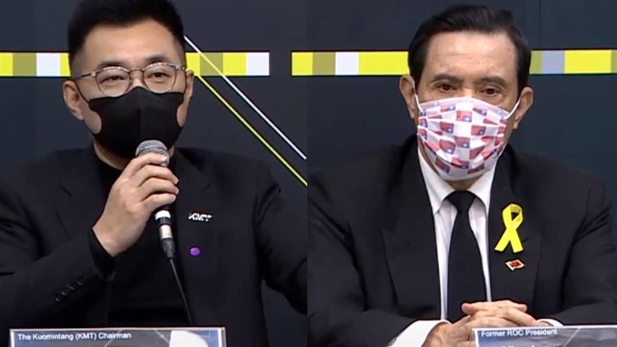 國民黨「國際記者會」挺中天 馬英九「穿公祭服裝」