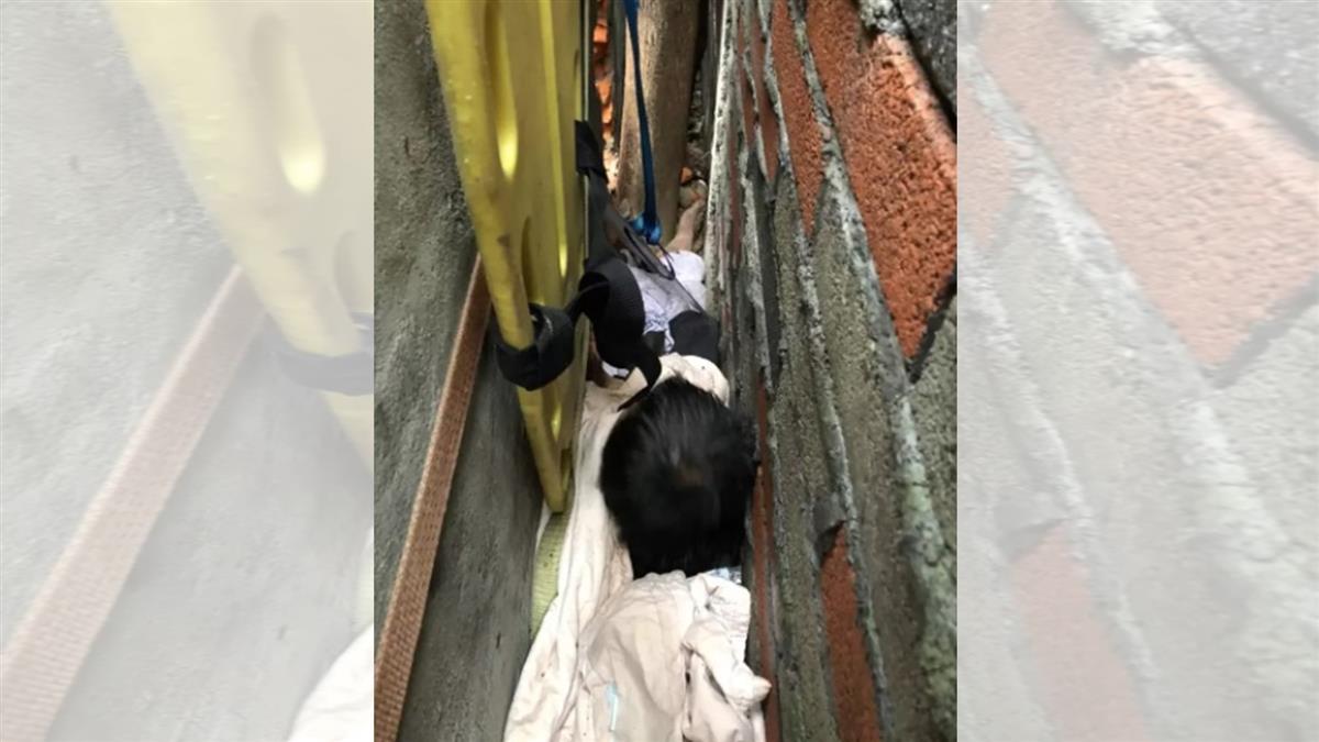 離奇!桃園男6.7強震後卡30公分牆縫 痛苦哀號16hr獲救
