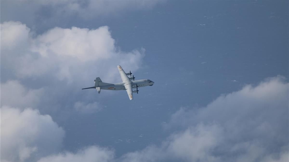 共軍一架運8反潛機擾台 空軍巡邏兵力應對