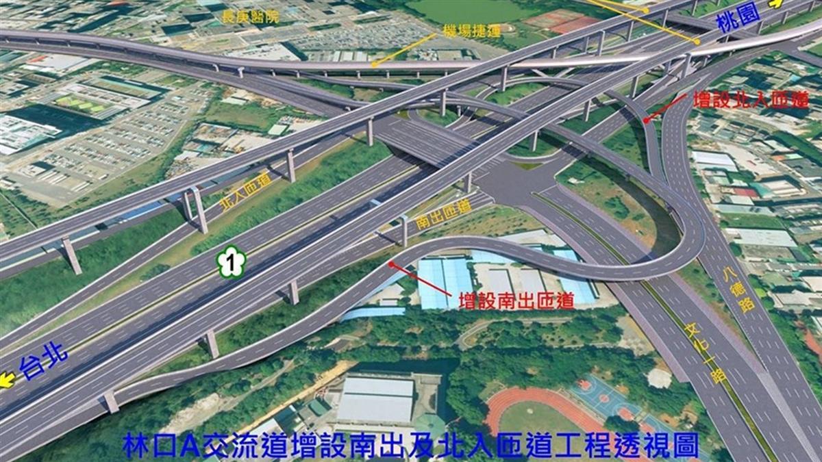 斥19億改善國1林口交流道壅塞 最快2024年8月完工