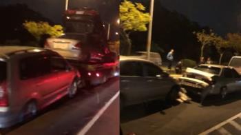 快訊/台74線花壇路段11車追撞 車流嚴重回堵