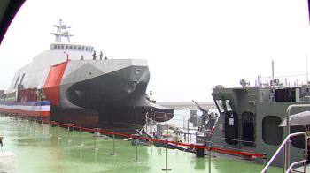 首艘沱江艦量產型命名「塔江艦」 總統主持下水典禮