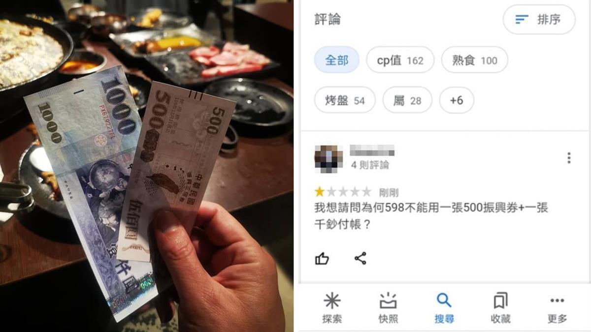 拿「500元三倍券+千鈔」付598元被拒 他氣炸:邏輯差別站收銀