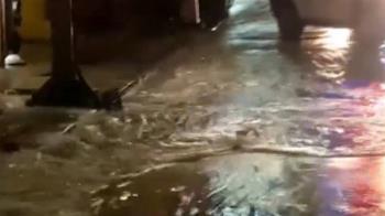 基隆地下水管突破大積水 影響5000戶停水