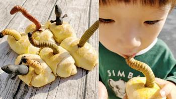 巧手媽做「蟲蟲麵包」餵3歲兒 壁虎掙扎竄出超逼真