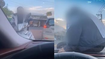 上班遇怪男!女駕駛遭狂譙刮車 嚇壞報警處理