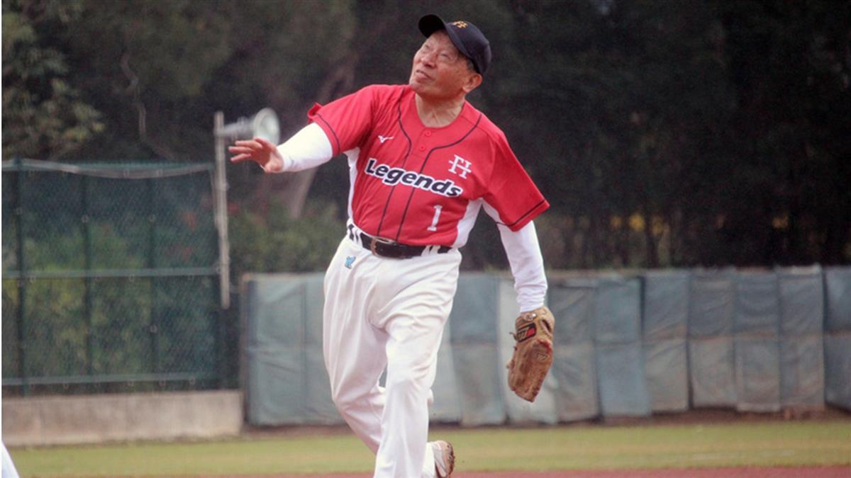 中職退役明星棒球賽 82歲洪騰勝投6局不喊累