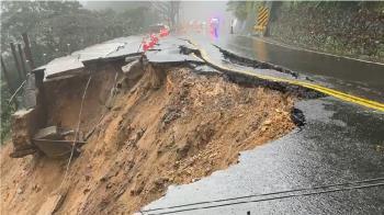 快訊/大雨釀災!陽金公路地基掏空 台2甲線道路坍方中斷