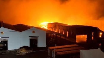 快訊/晚間還在燒!桃機旁旭富製藥廠大火 鄰近5公司受波及