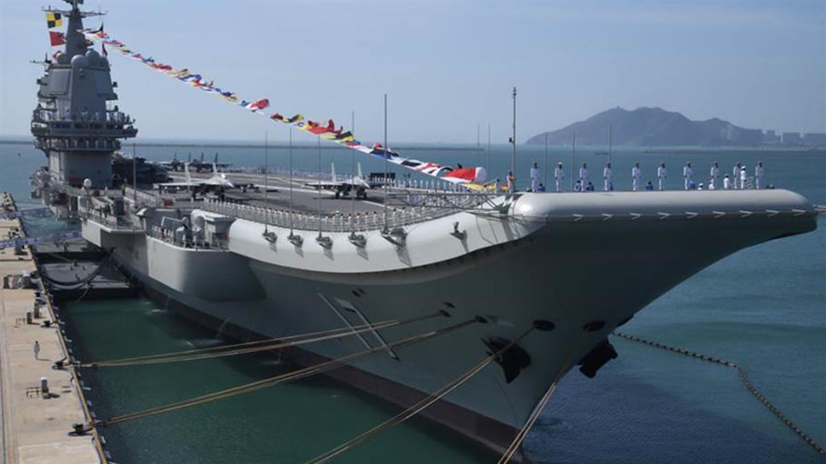 大陸航母山東號今經過台灣海峽 國軍出動6艦8機出海緊盯