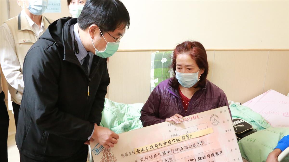 台南護理師遭酒駕撞死 黃偉哲送超大支票挨轟:以為頒獎?