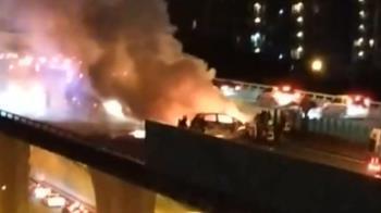 台74線火燒車!男來不及逃生慘成焦屍 目擊者還原現場情況