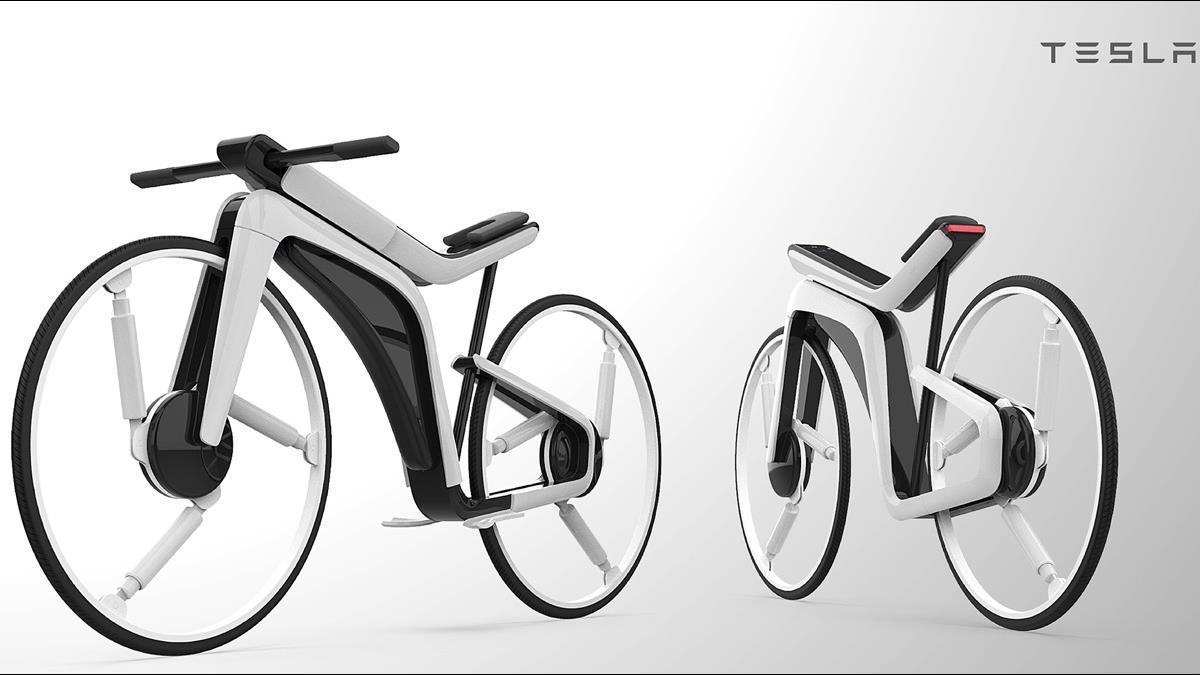 特斯拉Model B曝光!自駕電動自行車未來感十足 還配有保護罩