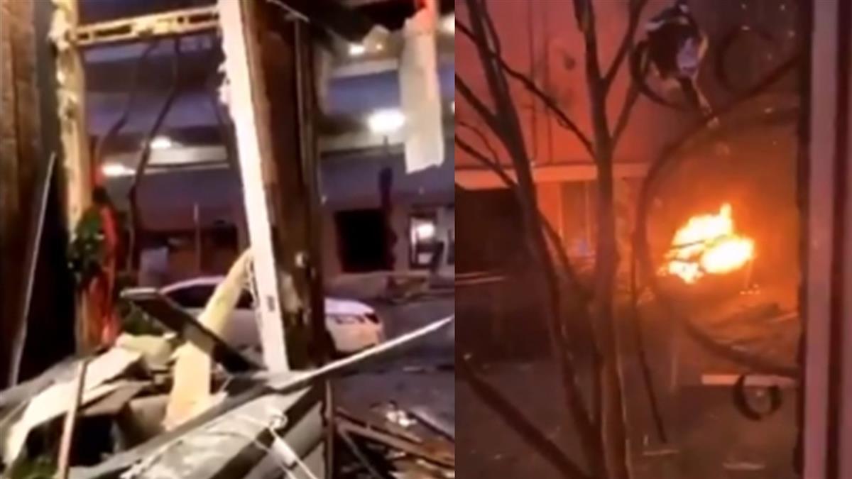 快訊/美國田納西州發生大爆炸 濃煙瀰漫多棟建築物受損
