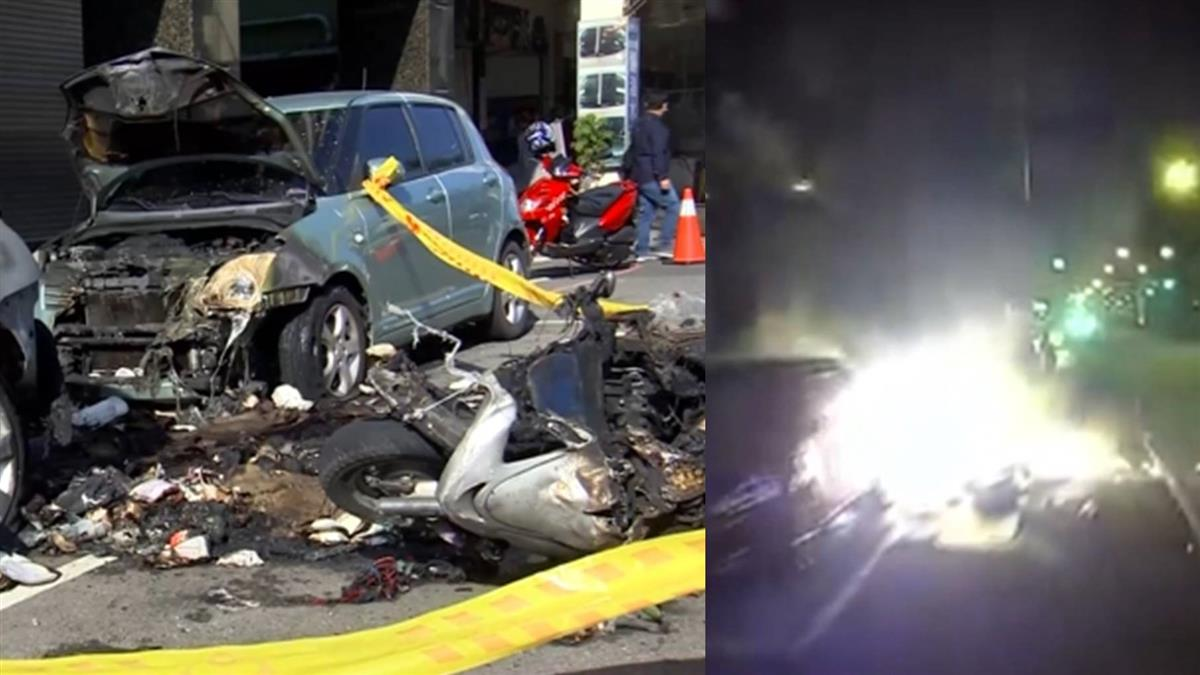 紙盒接觸排氣管釀火燒2車 拾荒婦恐賠百萬