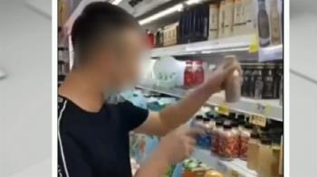 男大鬧賣場偷喝飲料 破壞水果外盒遭警送辦