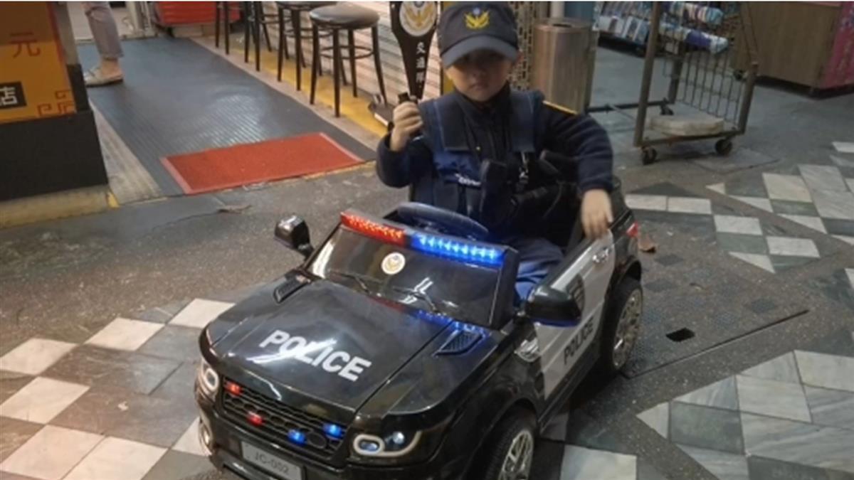 萌! 4歲林小弟想當警察 跟波麗士大人巡邏圓夢