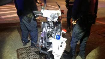 員警騎警車處理糾紛案 慘遭未禮讓轎車撞飛