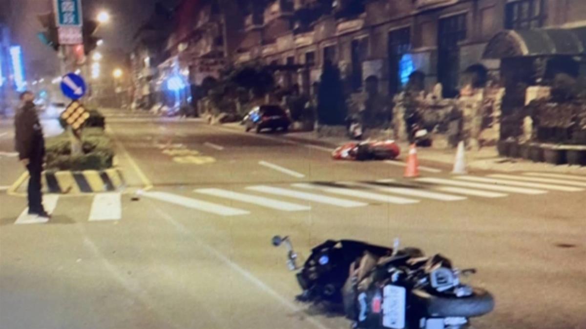 無照少女雙載直接左轉 擦撞雙載騎士 釀1死3輕重傷