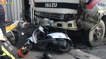 快訊/屏東砂石車碰撞多輛機車 6人傷緊急送醫