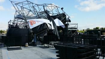 快訊/寒流+鋒面夾擊!台中舞台鷹架遭強風吹垮 跨年活動恐受影響